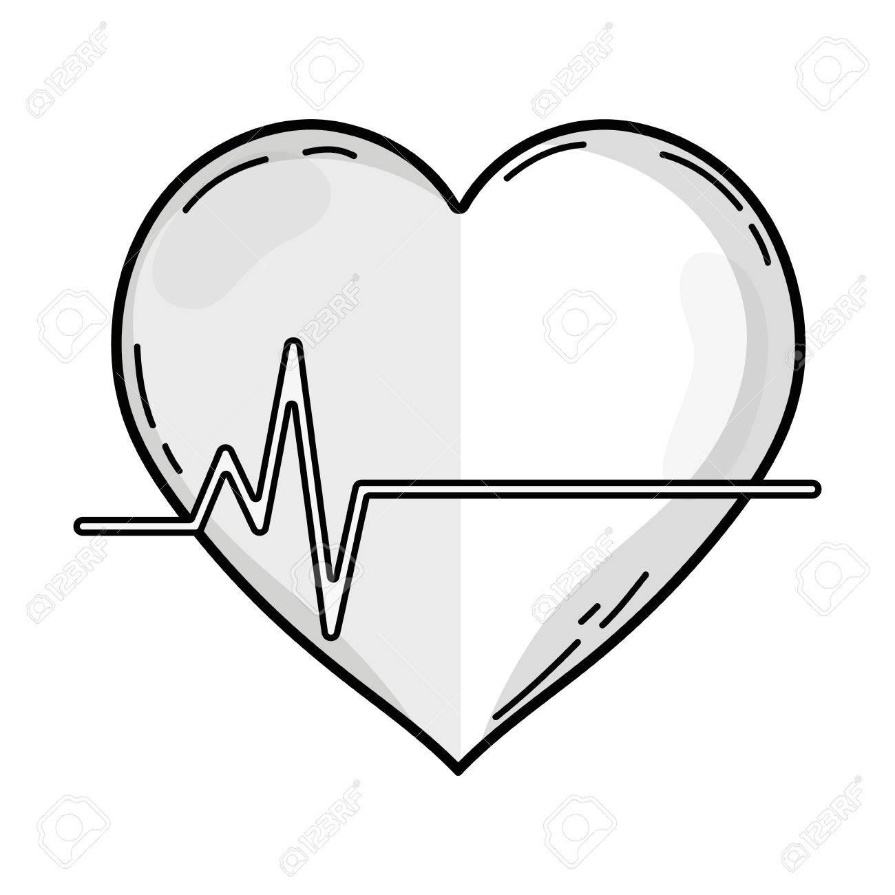 1300x1300 Outline Drawing Of Frequency Vital Cardiac Rhythm Heartbeat