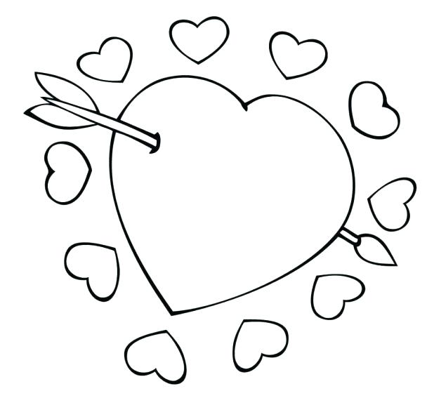 618x567 Human Heart Coloring Page