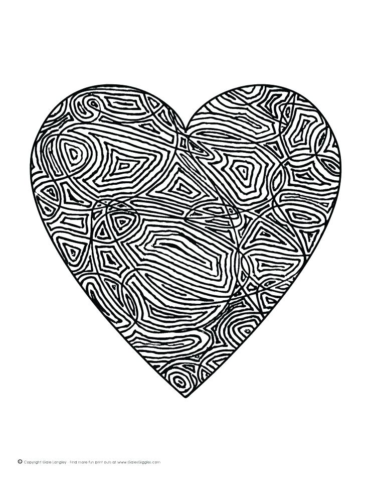 736x952 Here Are Heart Coloring Pages Pictures Cute T Heart Valentine