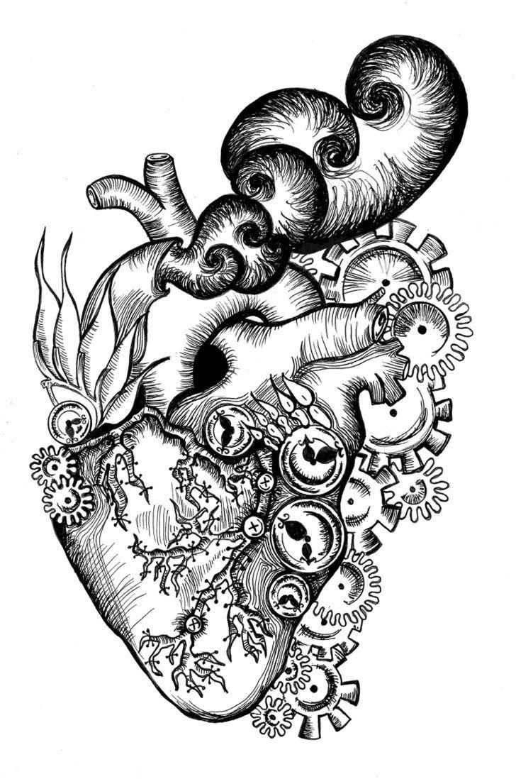728x1098 Steampunk Heart By Aoibunnyonsakuratree Heart