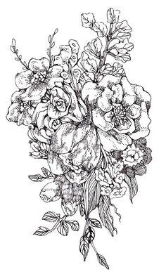 236x390 Blooming Anatomical Human Heart. Vector Hand Drawn Illustration