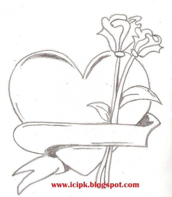 600x688 Gallery Easy Pencil Drawings Heart,