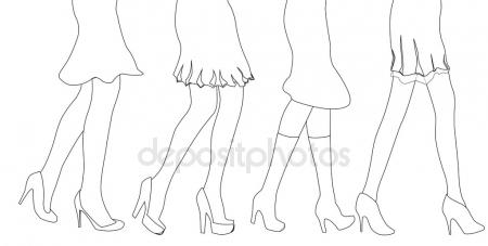 450x227 Woman Legs Sketch Stock Vectors, Royalty Free Woman Legs Sketch