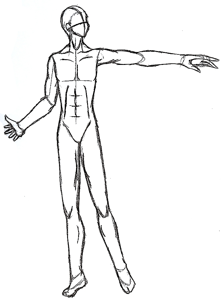 751x1000 Male Anime Body Base By Demonicangal