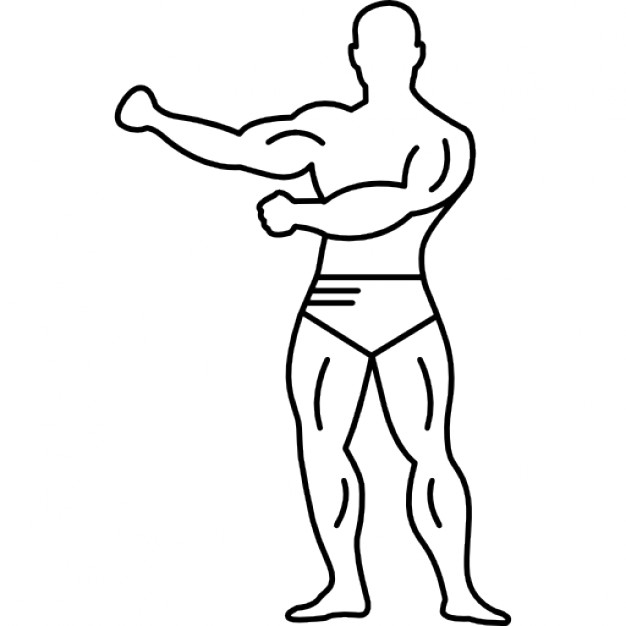 626x626 Gymnast With Strong Muscles In Full Body View Icons Free Download