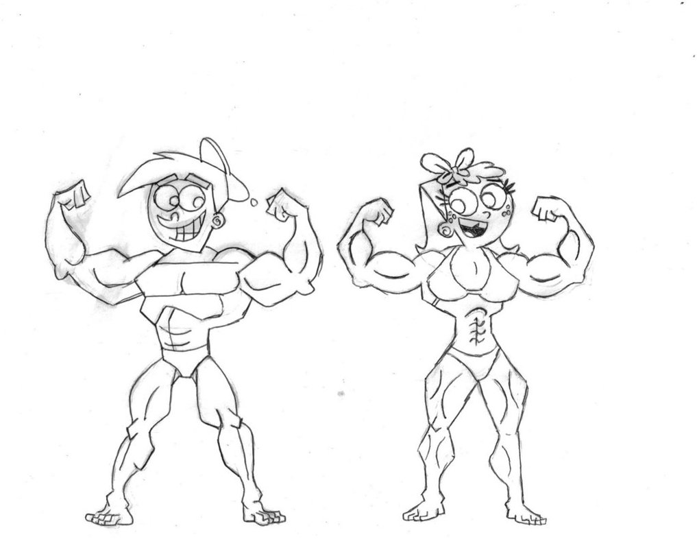 1017x786 Muscular Timmy And Chloe By Mysteyboy