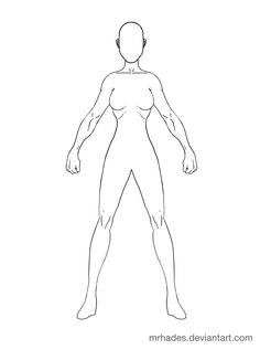 Human Outline Drawing