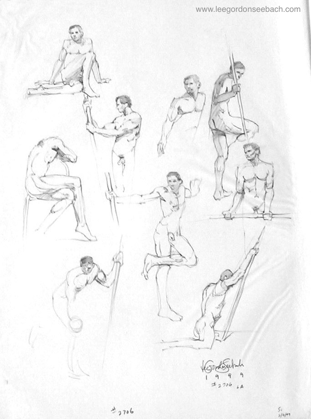 631x850 Drawing ( 2706) By Lee Gordon Seebach Charcoal Pencil ~ 24 X 18