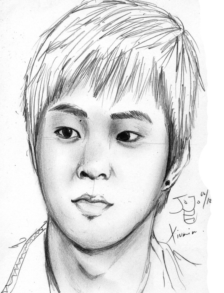 782x1021 pencil sketches of people exo m xuimin pencil sketch by