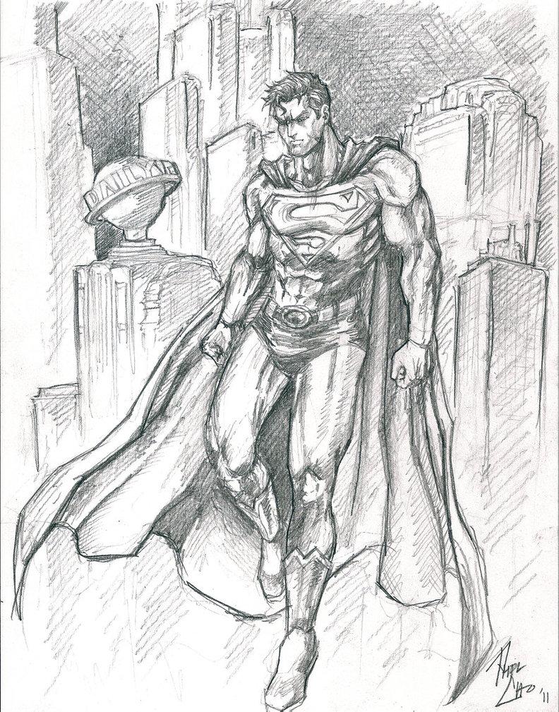 792x1009 Superman Sketch By Phil Cho