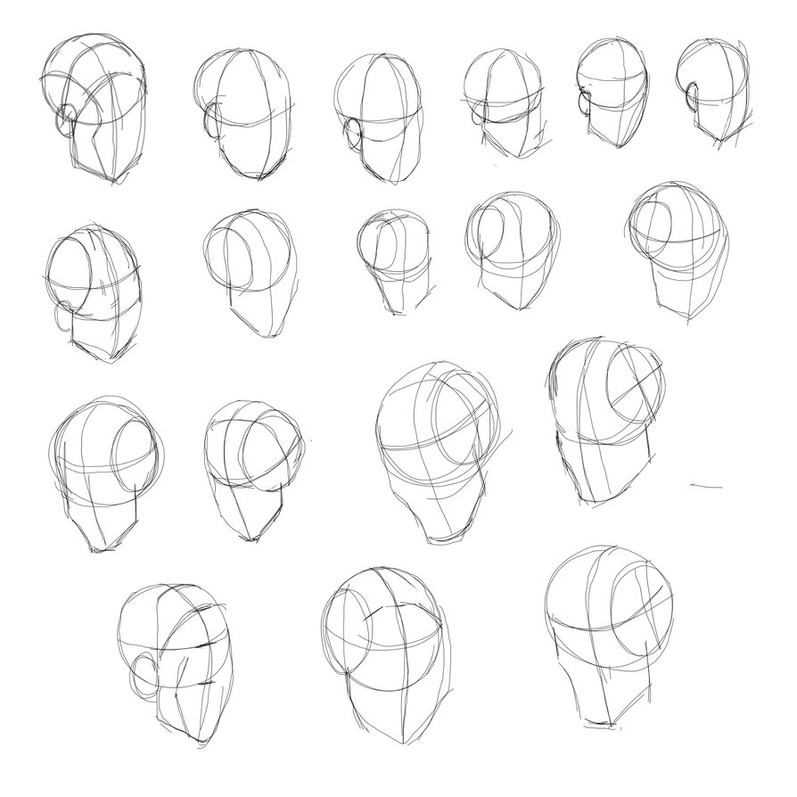 894x894 Drawing Of Human Head How To Draw The Head In Perspective Drawing