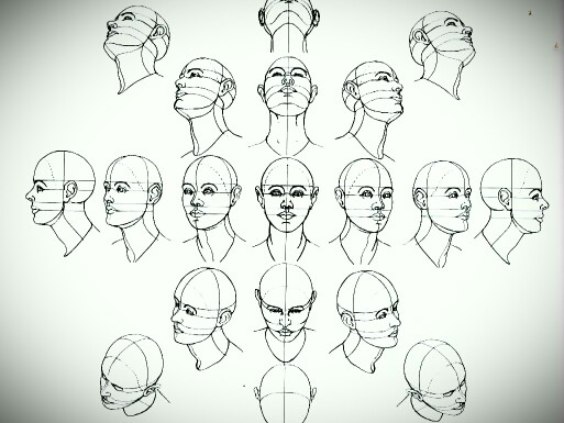 513x385 Face Perspectives Drawing Tutorials Perspective
