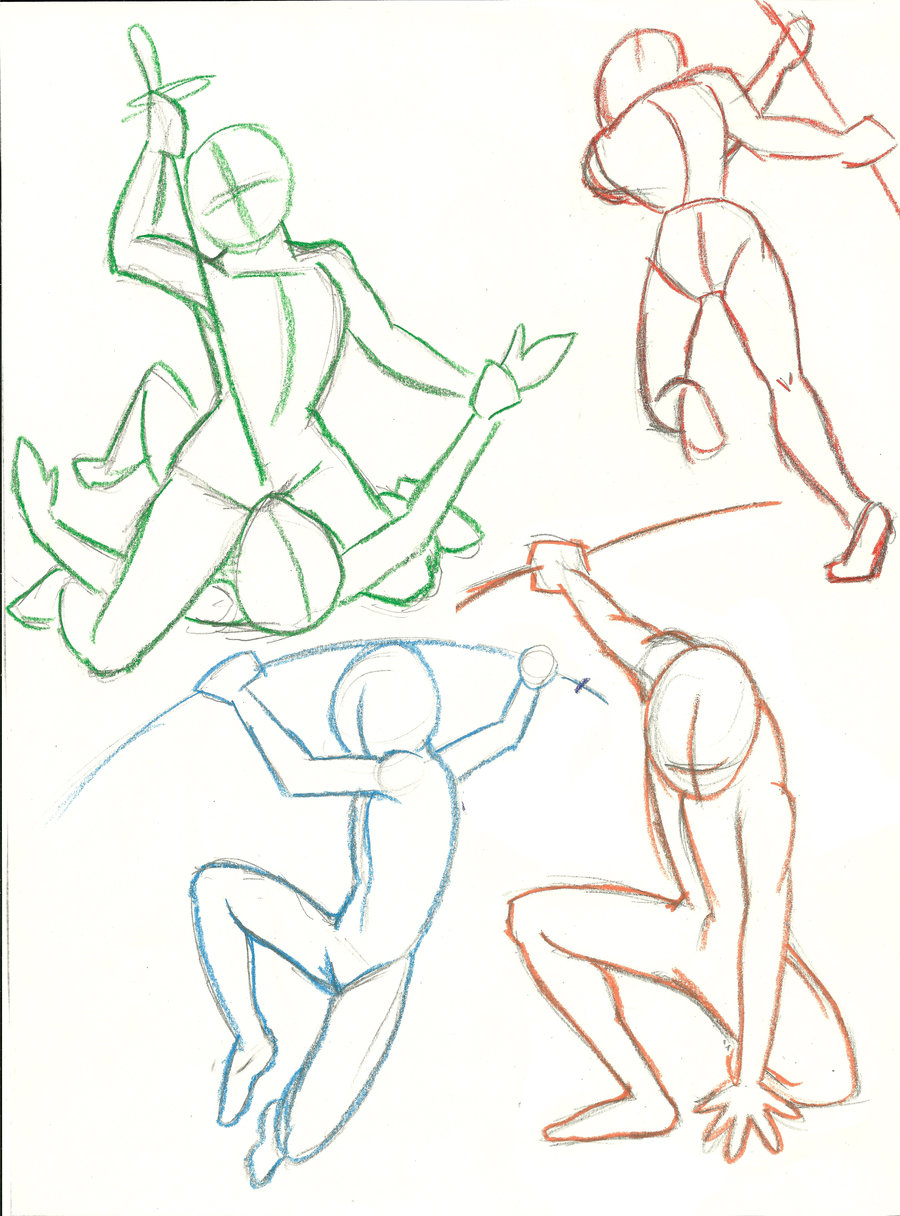 900x1216 Human Action Poses By Color Freak1