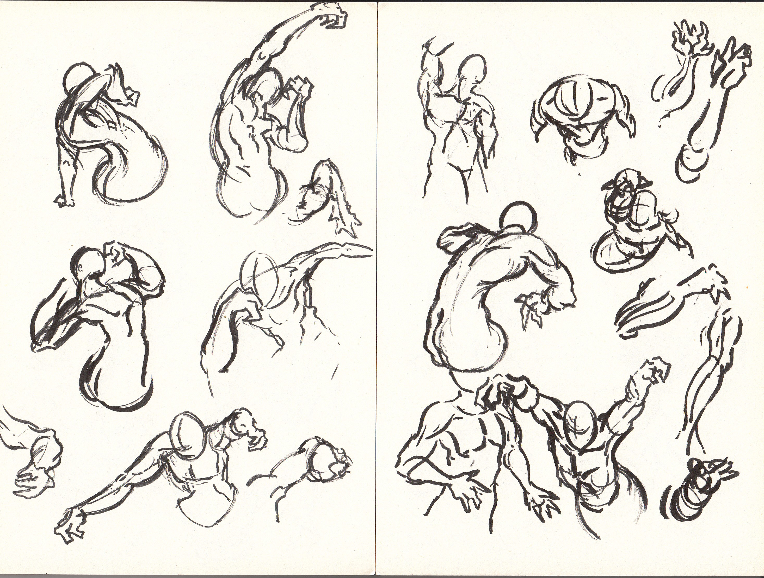 2932x2220 Human Poses = Monster Poses! Draw, Monster! Draw!