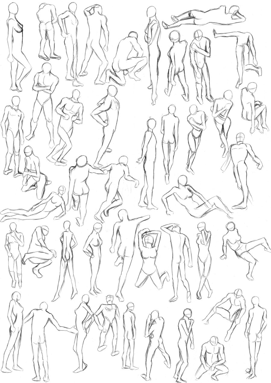 900x1273 More Pose Drawing By Psychotic Hamster