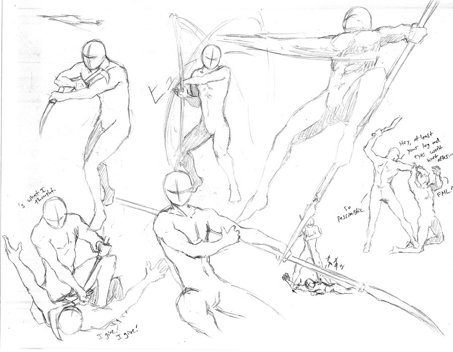 900x701 Action Poses 6 By Shinsengumi77