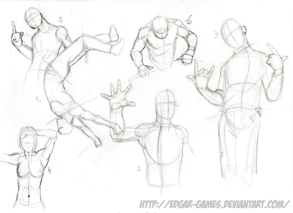 1024x746 Practice Poses Sketch 02.12.15 By Edgar Games
