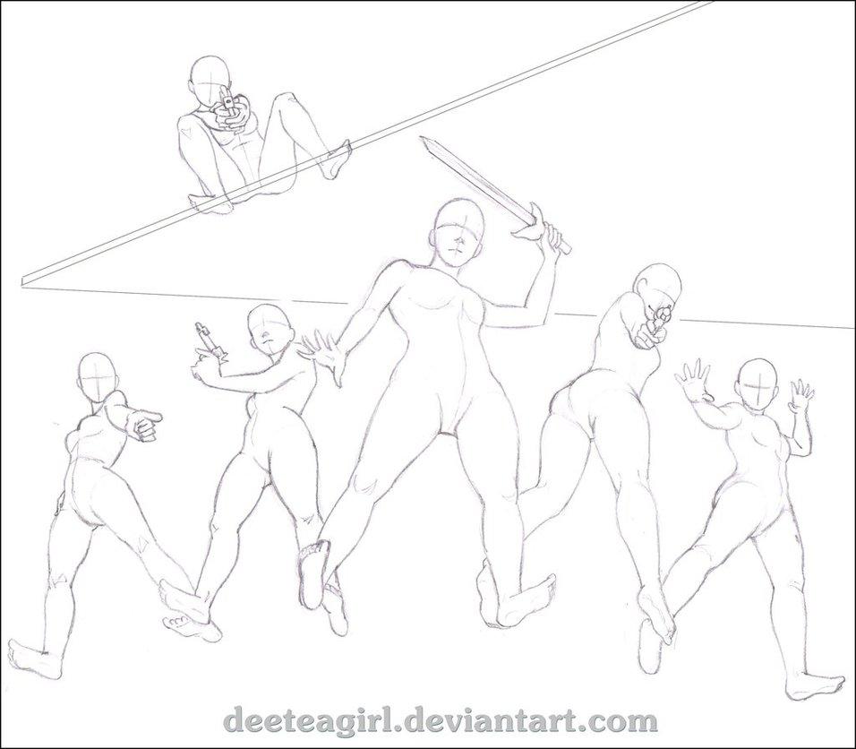 956x836 Senshistock Group Pose Drawing Challenge! By Deeteagirl