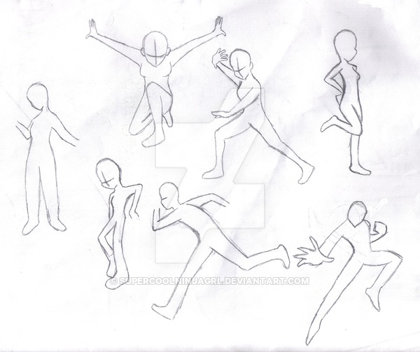 600x503 Sketch Action Poses By Supercoolninjagrl