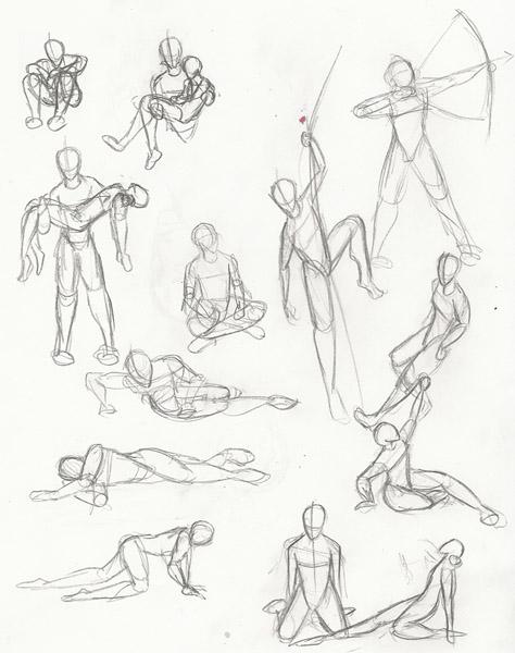 474x600 Pose Sketches By Doomandnachos