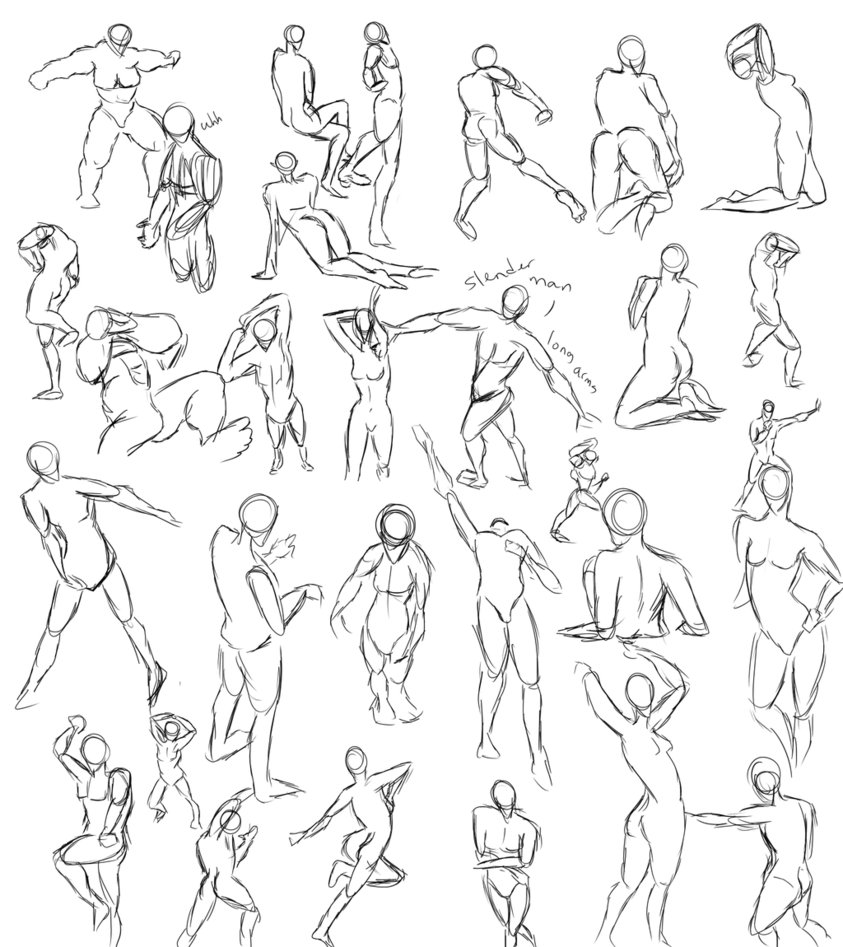 Human Poses For Drawing At Getdrawings Free For Personal Use