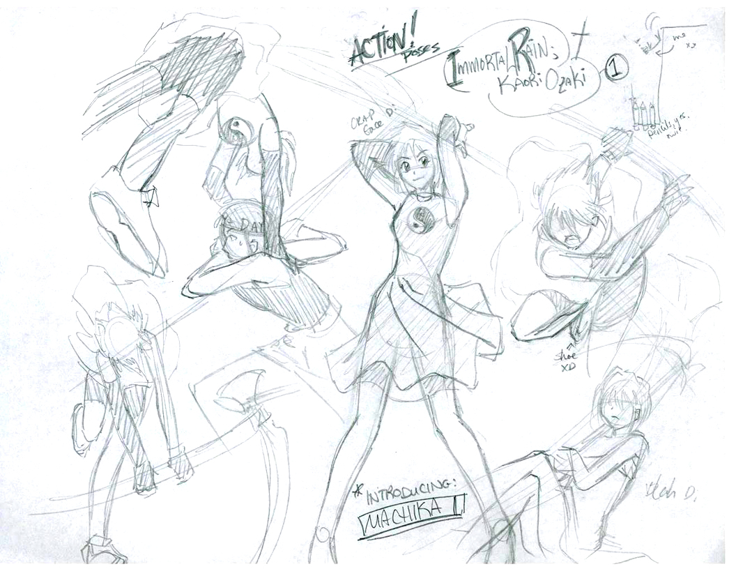 1056x816 Immortal Rain Action Poses 01 By Laitma
