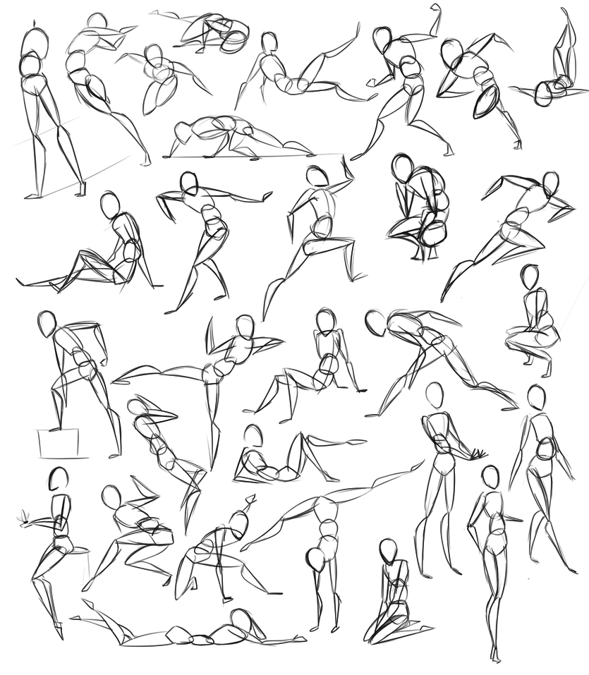 835x957 Pose Practice By Stickaroo