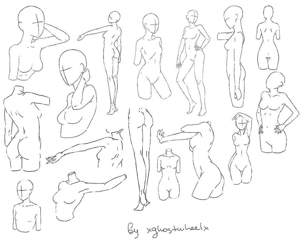 1009x792 Pose Reference 1 (Female) By Xghostwheelx