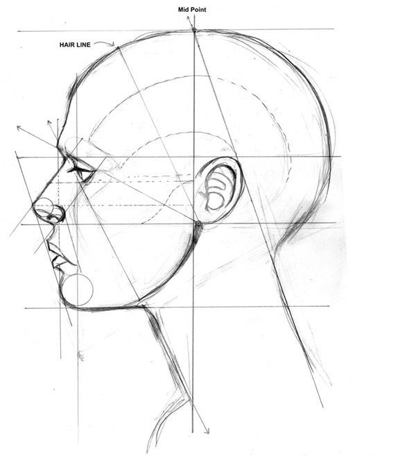 Human profile drawing at getdrawings free for personal use 600x657 image result for how to use boxes to draw face in profile view ccuart Gallery