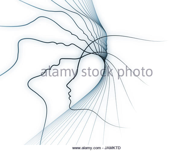 640x500 Drawing Blue Profile Head Brain Stock Photos Amp Drawing Blue