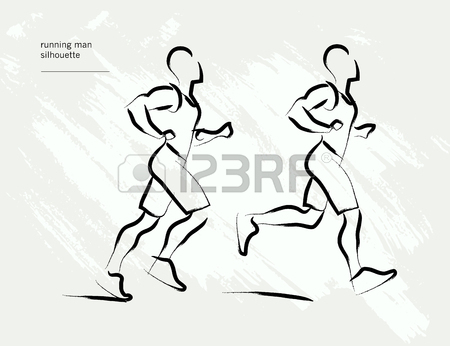 450x346 Vector Hand Drawn Active People Sketch Isolated On White