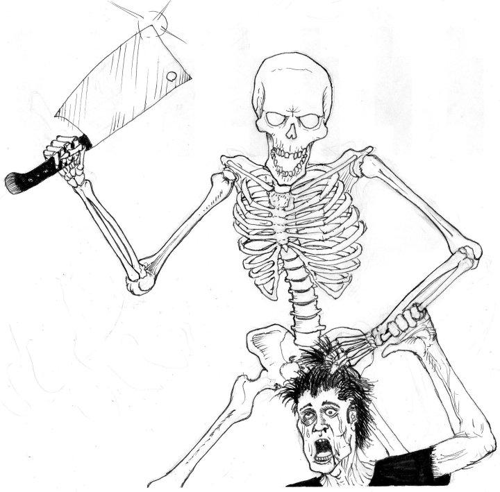 720x709 Skeleton Drawings