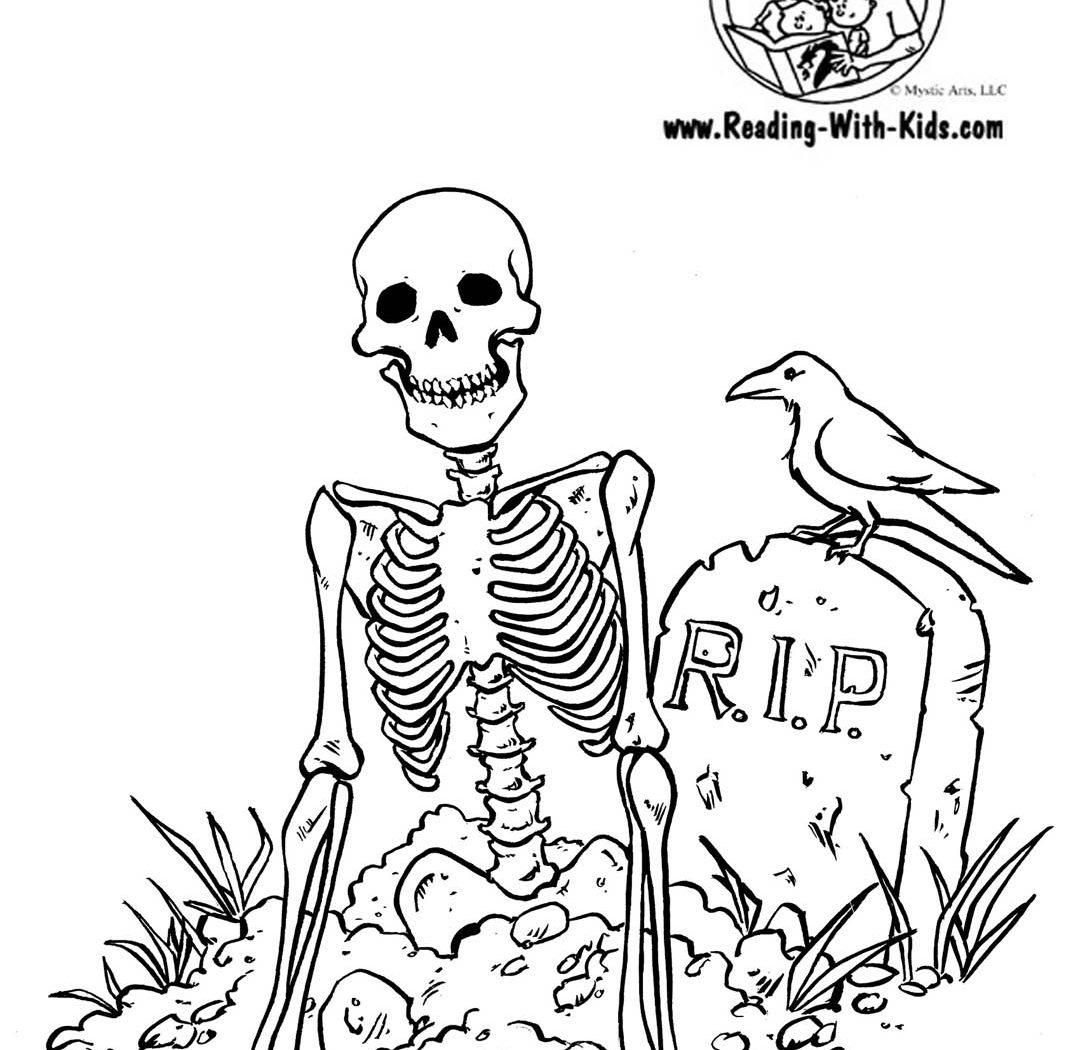 1080x1050 Halloween Coloring Pages Skeleton Pumpkin Free Printable Adult