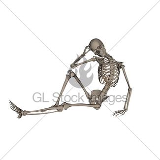 325x325 Human Skeleton Meditation 3 D Render Gl Stock Images