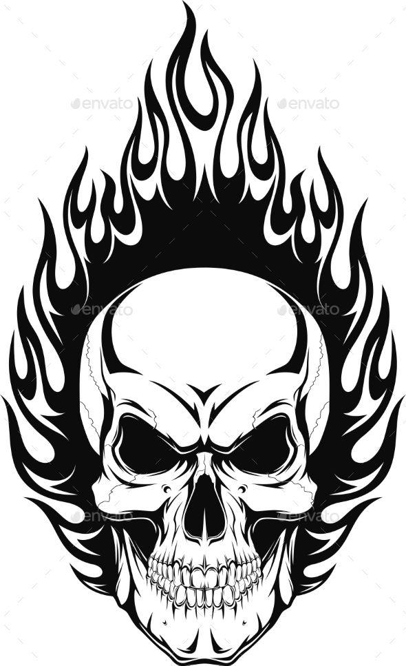 590x967 Human Skull Human Skull, Tattoo And Drawings