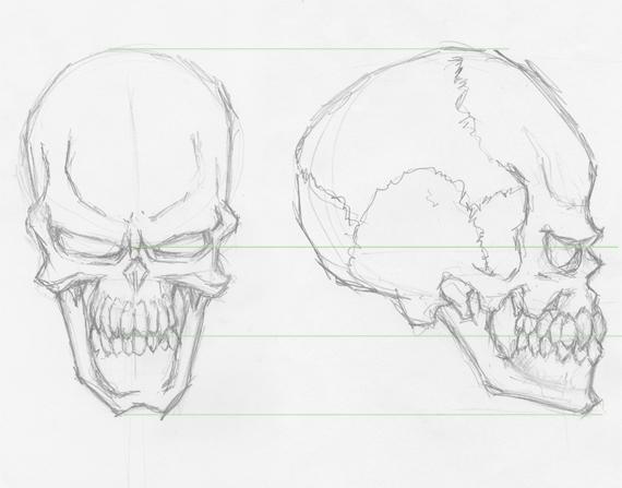 570x447 How To Draw Evil Vector Skulls In Illustrator