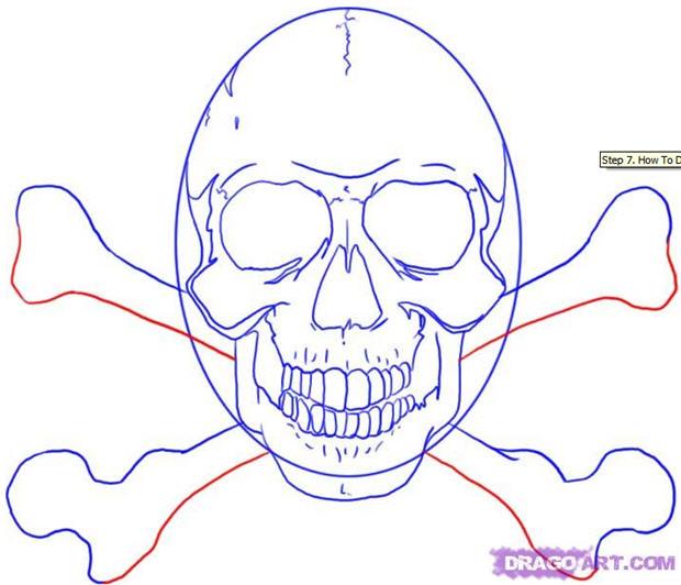 620x532 How To Draw A Skull 50 Tutorials Drawn In Black