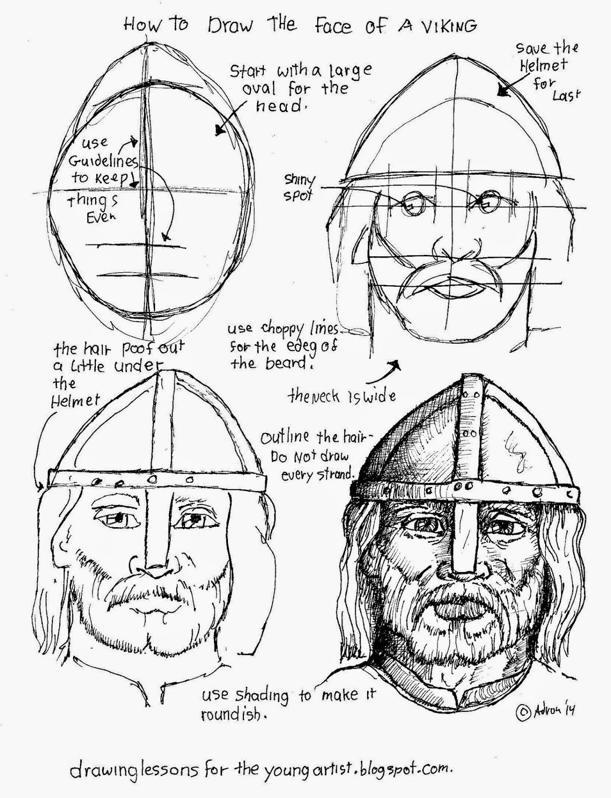 1225x1600 How To Draw A Viking's Face. See More