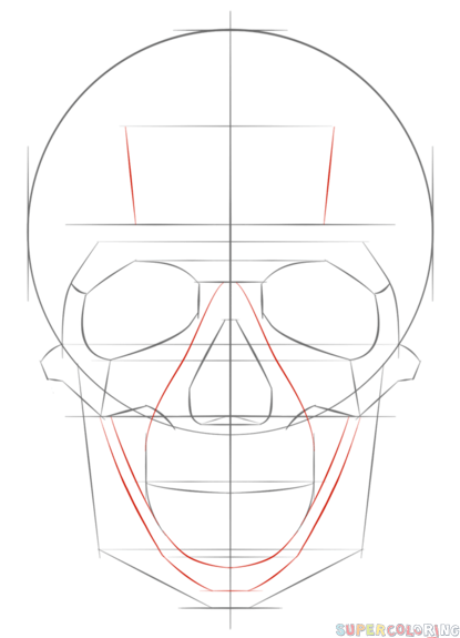 415x575 How To Draw A Human Skull Step By Step. Drawing Tutorials For Kids