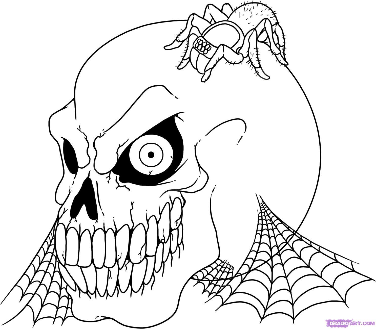 1486x1303 Drawn Skull Halloween