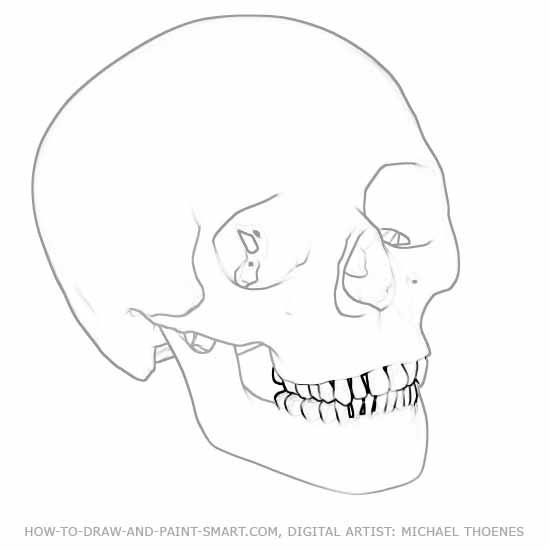 550x550 How To Draw Skulls