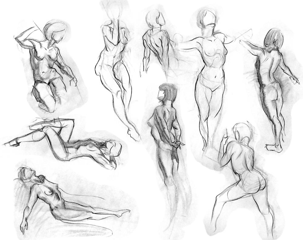 1000x791 Figure Drawings By Andantonius