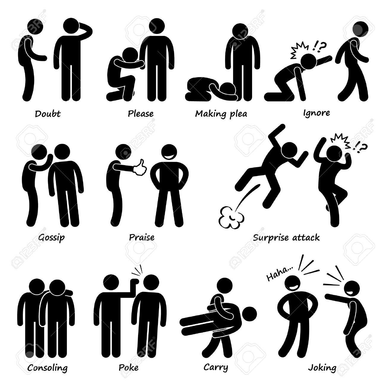 1300x1300 Human Man Action Emotion Stick Figure Pictogram Icons Lizenzfrei