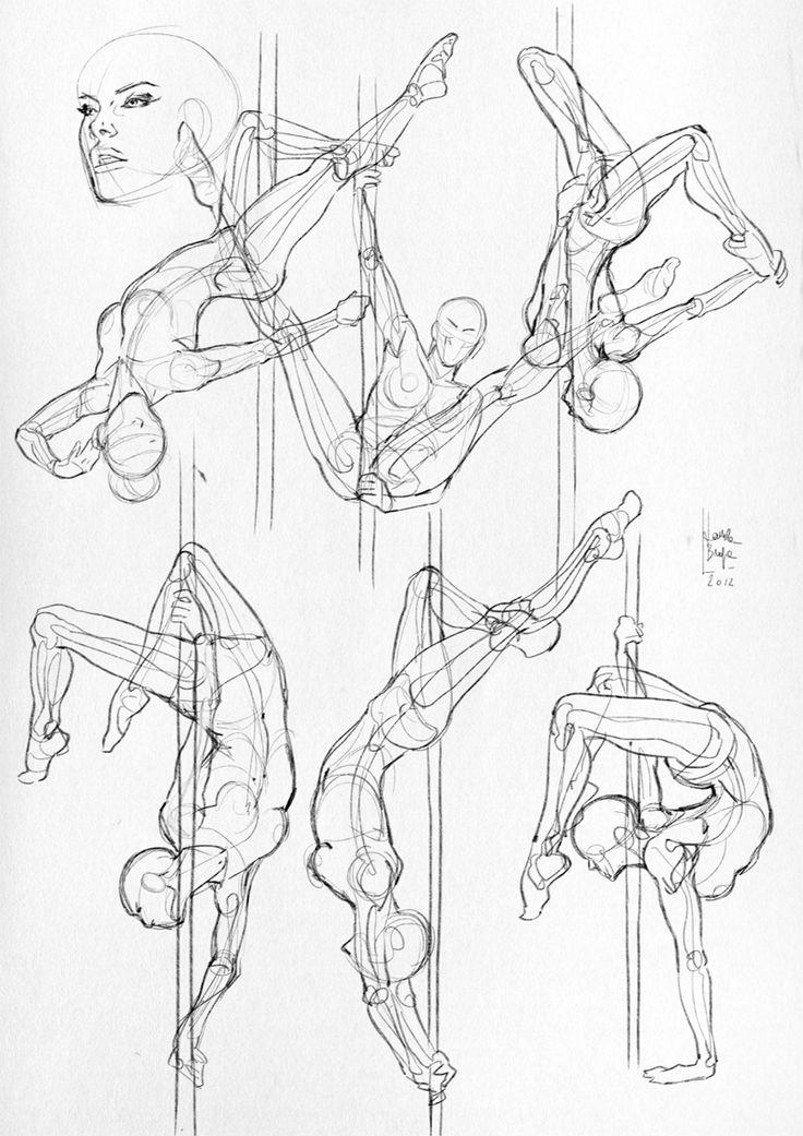 736x1041 Drawn Mermaid Gesture Drawing