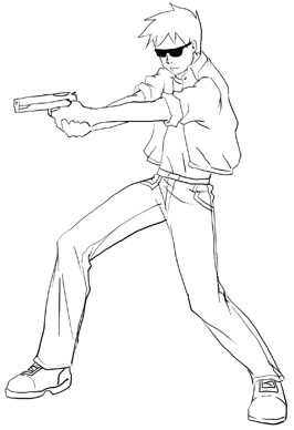 266x388 Anime Action Scenes How To Draw Manga Action Poses Step By Step