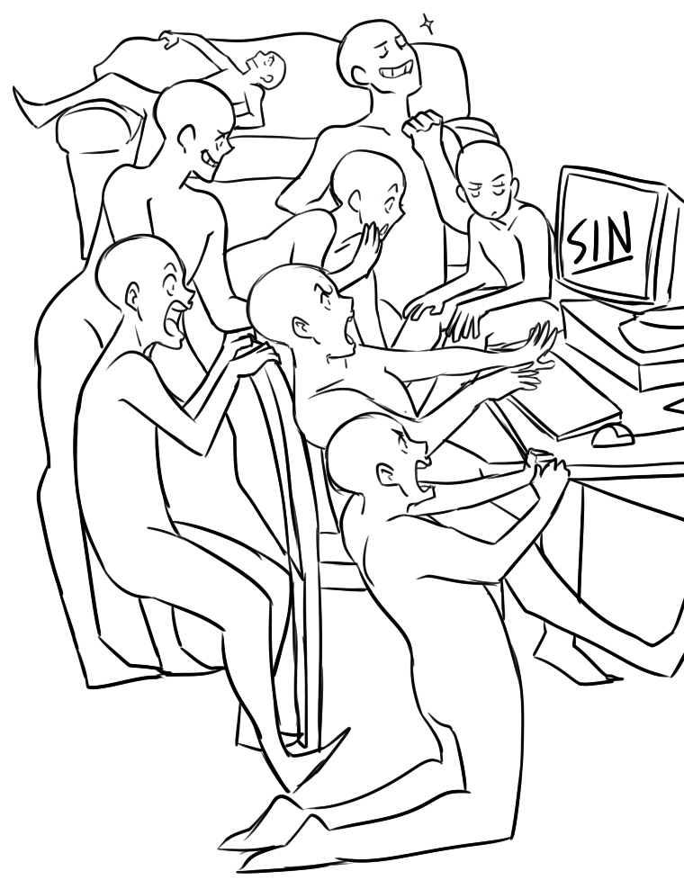 760x978 Draw The Squad Sin Blank Template Pc 8 People Draw The Squad