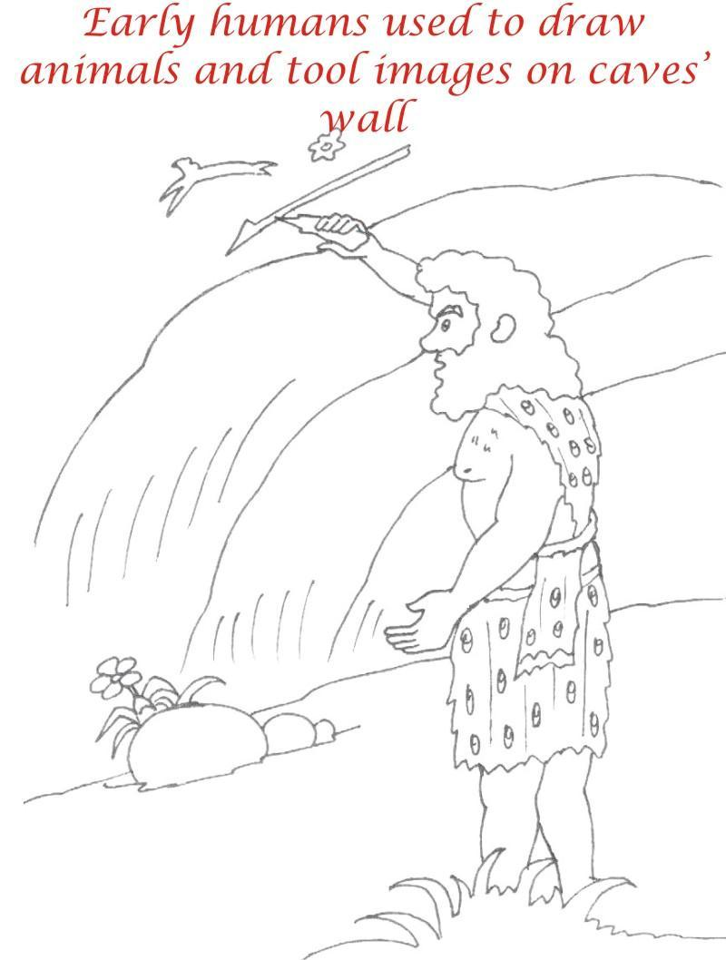 800x1058 Early Humans Printable Coloring Page For Kids 17
