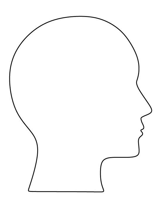550x712 Human Head Drawing Template