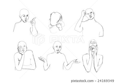 450x318 Human Body Language. Contour Drawing.