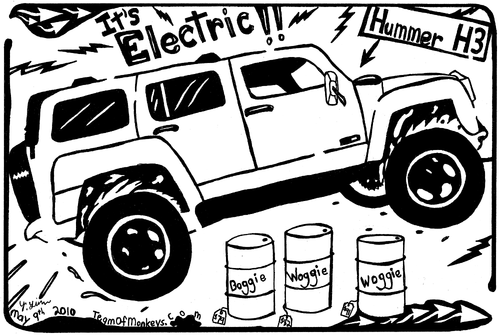 1000x670 Cartoon Maze Of The New Electric Hummer H3, Hybrid Electric Hummer